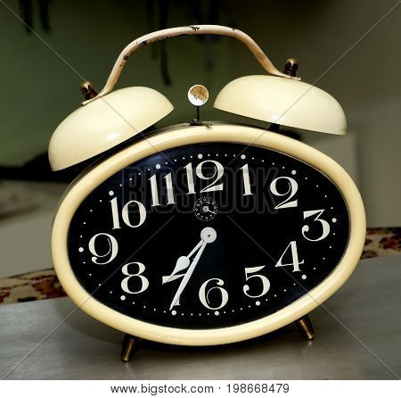 Old fashioned alarm clock , with bells