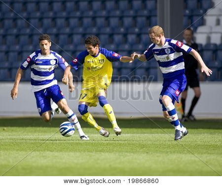 LONDON, UK AUGUST 2, Diego Farias evades Damien Delaney at the pre-season friendly football match between QPR and Chievo,