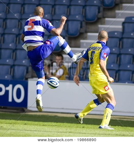 LONDON, UK AUGUST 2,Fitz Hall intercepts the ball at the pre-season friendly football match between QPR and Chievo,