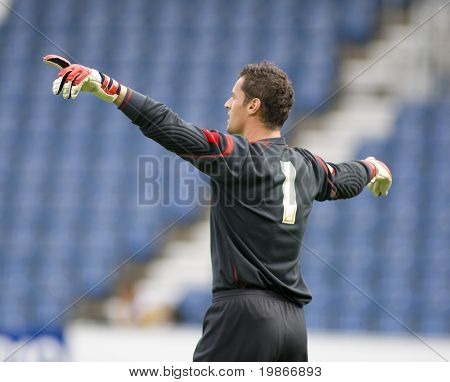 LONDON, UK AUGUST 2, Lee Camp at the pre-season friendly football match between QPR and Chievo,