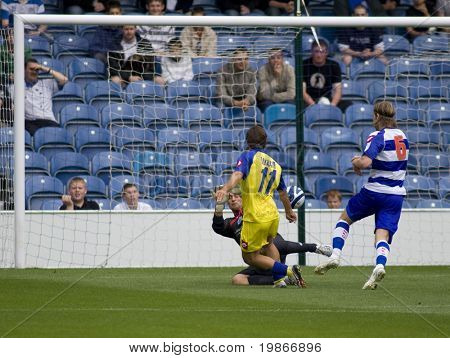 LONDON, UK AUGUST 2, Antimo Lunco and Lee Camp at the pre-season friendly football match between QPR and Chievo,