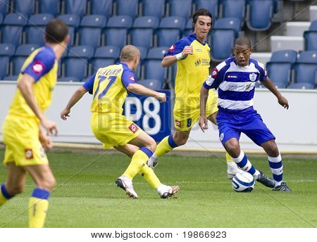 LONDON, UK AUGUST 2,Dexter Blackstock at the pre-season friendly football match between QPR and Chievo,