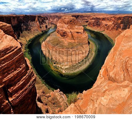 Horseshoe Bend is a horseshoe-shaped incised meander of the Colorado River located near the town of Page, Arizona, in the United States.