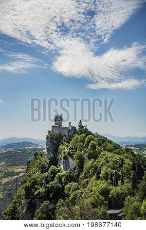 Rocca della Guaita castle in San Marino republic