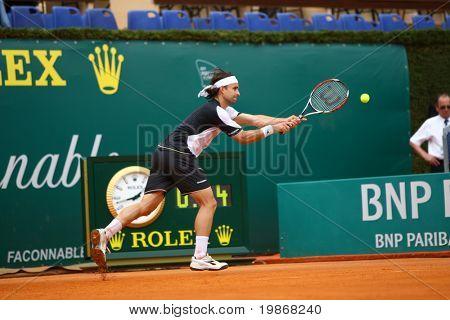 Monte carlo Monaco 20 April, Nicolas Kiefer (Ger) im Wettbewerb in der atp masters Turnier in Monte c