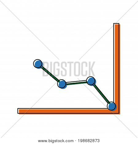 business graph and chart progress financial vector illustration