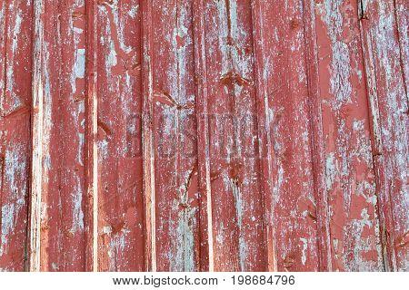 weathered red and grey Horizontal Barn Wood