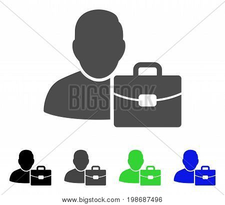 Accounting flat vector icon. Colored accounting, gray, black, blue, green icon variants. Flat icon style for web design.