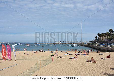 Praia Ribeira Public Beach. Cascais. Portugal