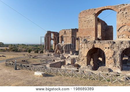 Famous Villa dei Quintili archaeological site of Rome. Roman villa of the first half of the 2nd century.