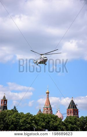 The Helicopter Of The Kremlin, Takes Off The Territory Of The Kremlin