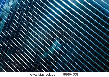 Solar battery a texture in dark blue