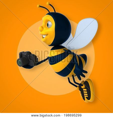 Fun bee - 3D Illustration