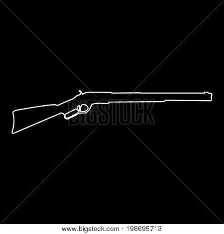 Rifle White Color Path Icon .