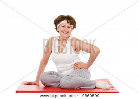 happy senior sport woman