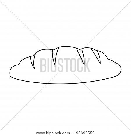 bread bakery product carbohydrate food vector illustration
