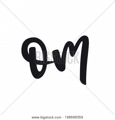 Say om postcard. Hand drawn relax lettering. Ink illustration. Modern brush calligraphy. Isolated on white background.
