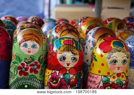 Wooden doll - painted Russian dolls with a secret inside