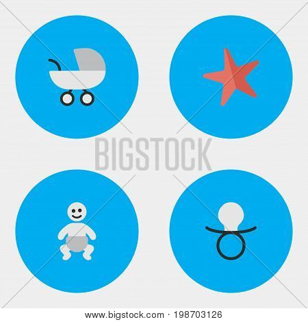 Vector Illustration Set Of Simple Infant Icons