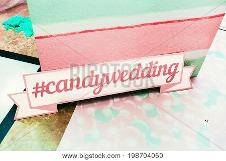 Wedding photozone in a candy style. Candywedding details