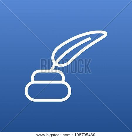 Isolated Pencil Outline Symbol On Clean Background
