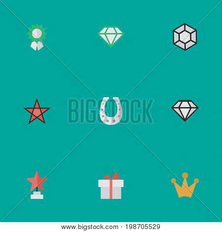 Vector Illustration Set Of Simple Achievement Icons