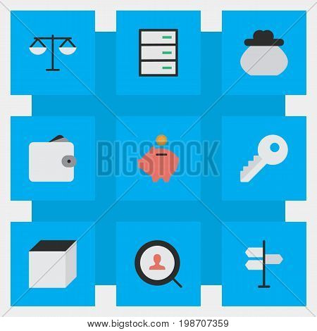 Vector Illustration Set Of Simple Business Icons