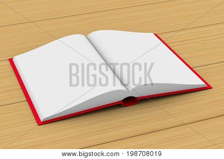 Open book on white background. Isolated 3D illustration
