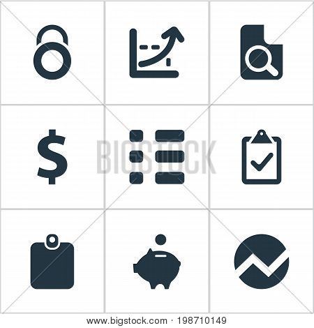Vector Illustration Set Of Simple Investment Icons
