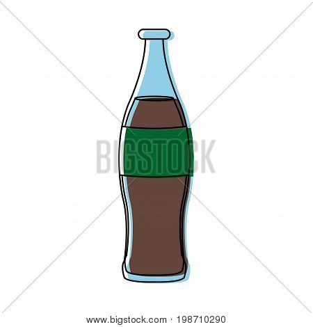 beverage cola soda carbonated drink bottle vector illustration
