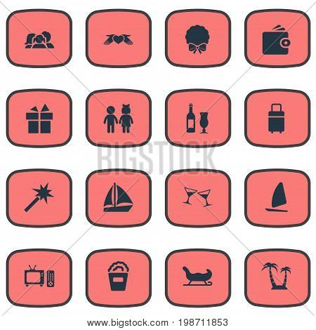 Vector Illustration Set Of Simple Festal Icons