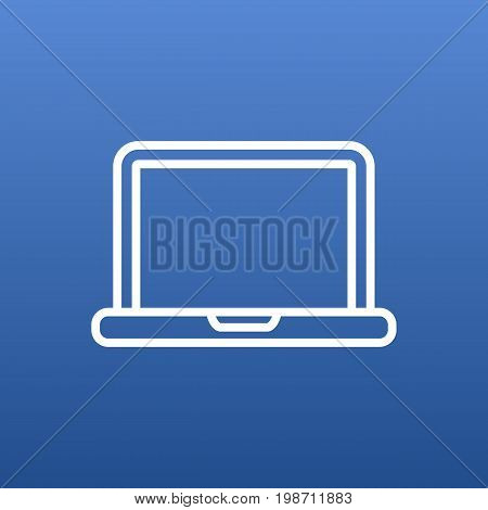 Isolated Laptop Outline Symbol On Clean Background