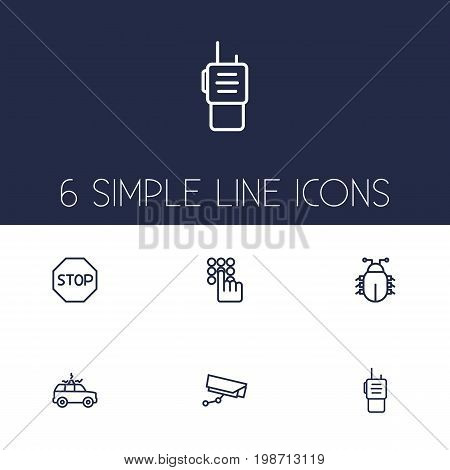 Set Of 6 Procuring Outline Icons Set