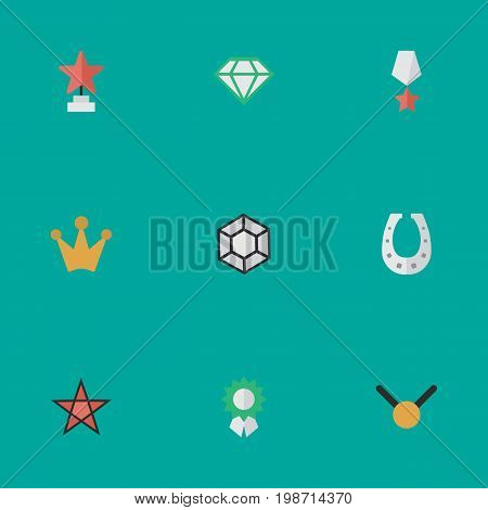 Vector Illustration Set Of Simple Champ Icons
