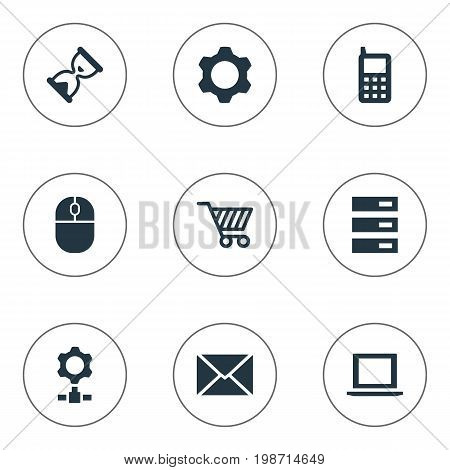 Vector Illustration Set Of Simple Technology Icons