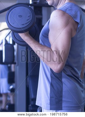 Male Gym Fitness Workout