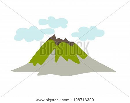 Volcano vector icon. Icelandic schematic nature isolated on white background