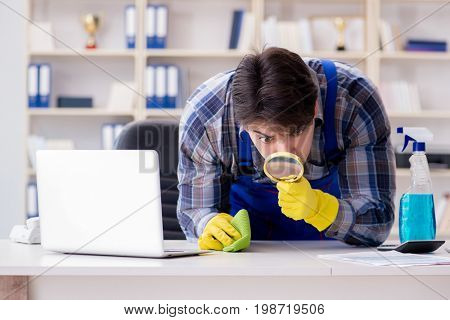 Looking for dust with magnifying glass