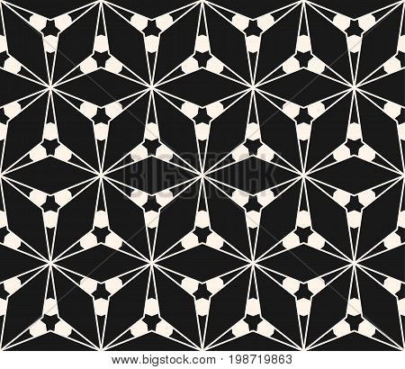 Geometric seamless pattern with triangular shapes thin lines. Subtle vector geometrical texture. Abstract repeat monochrome background. Stylish dark design for decoration, prints, cover, digital, web.