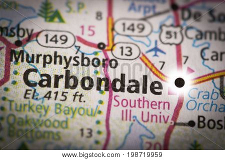 Carbondale, Illinois On Map