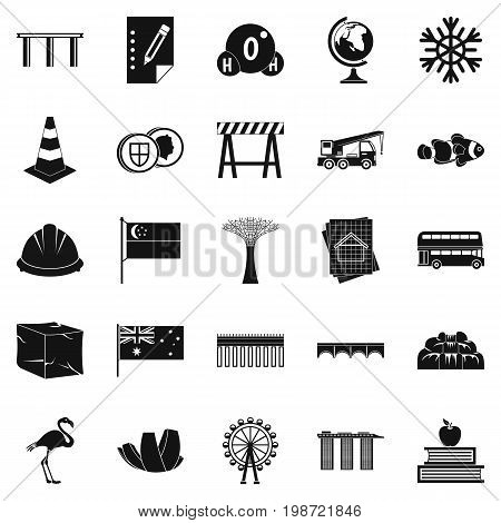 Redeployment icons set. Simple set of 25 redeployment vector icons for web isolated on white background