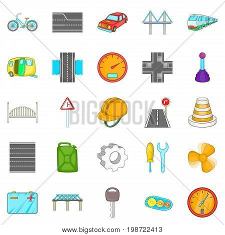 Gateway icons set. Cartoon set of 25 gateway vector icons for web isolated on white background