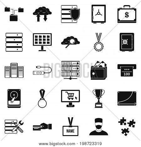 Cash expenditures icons set. Simple set of 25 cash expenditures vector icons for web isolated on white background