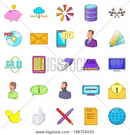 Money transfer icons set. Cartoon set of 25 money transfer vector icons for web isolated on white background