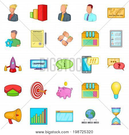 Pouch icons set. Cartoon set of 25 pouch vector icons for web isolated on white background