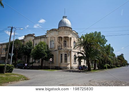 The old beautiful mansion of the Greek merchant in Sukhum, Abkhazia