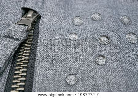 Waterproof Clothes With Water Drops