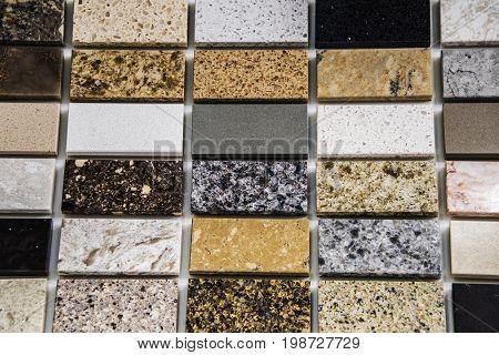 Tile floor. Granite tile flooring. Bathroom flooring tiles. Tiled flooring of marble. Rectangular tile flooring.