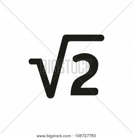Simple icon of square root symbol. Algebra, calculation, school. Knowledge concept. Can be used for topics like mathematics, science, education