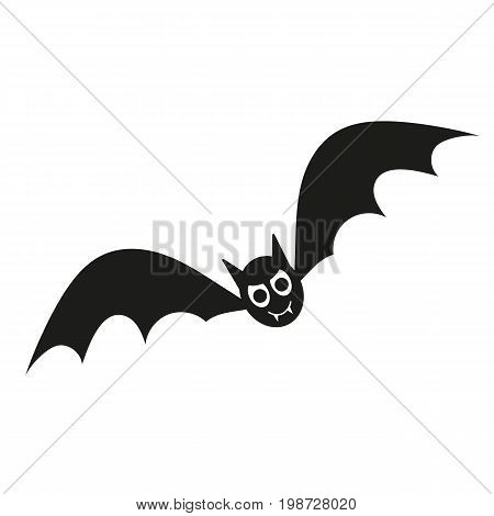 Simple icon of vampire bat. Vampire, mystery, horror. Halloween concept. Can be used for topics like holiday, fiction, animals